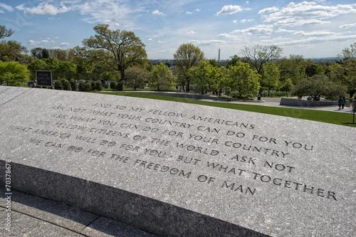 JFK Speech inscription at Arlington Cemetery