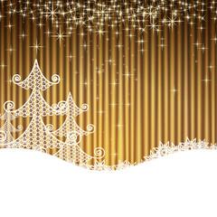 Noël or et blanc