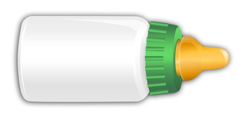 Green Baby Bottle