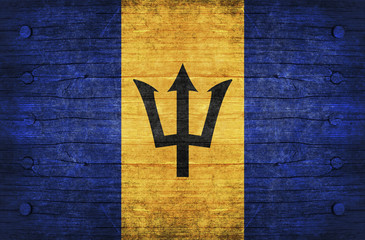 The National Flag of the Barbados