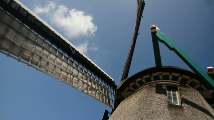 detail of windmill zaanse schans -  amsterdam