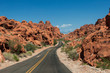 Road in the Valley of Fire State Park - 70380802