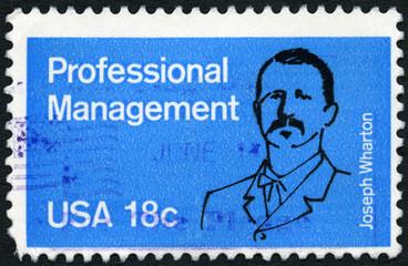 USA - 1981: shows Joseph Wharton (1826-1909), Professional Manag