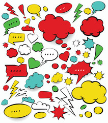 Comic Speech Bubbles,vector