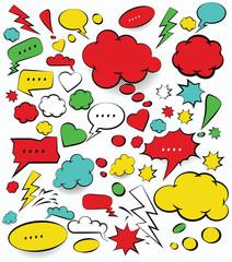 Comic Speech Bubbles,vector