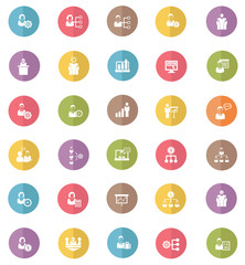 Human resource & business concept icons