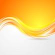 Shiny orange abstract waves