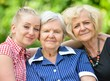 Happy and smilling family. Three generations of women