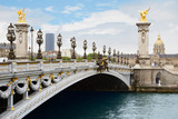 Alexandre III bridge in Paris in the morning, France - 70381679