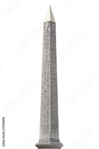 Obelisk isolated on white clipping path included - 70381606