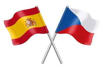 Flags: Spain and Czech Republic