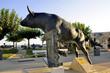 canvas print picture - Vovo bull sculpture