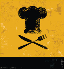 Cooking yellow design,grunge vector
