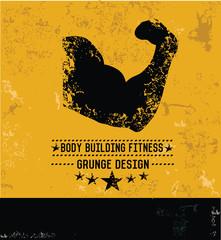 Fitness gym design,grunge vector
