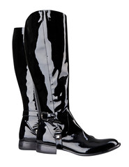 black boots isolated on white background