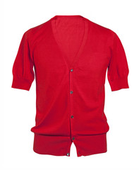 red jacket isolated on white background