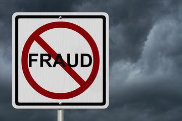 No Fraud Sign