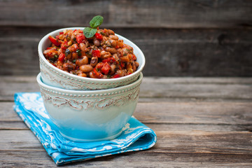 Lobio - Georgian spicy appetizer made ​​from beans