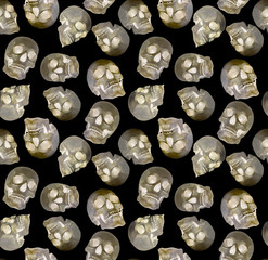 seamless background from human skulls