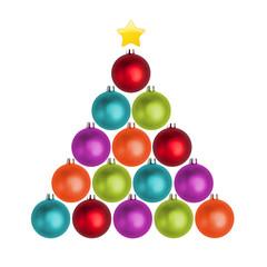 Tannenbaum aus Weihnachtskugeln