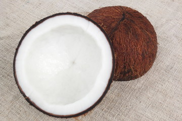 coconut  fruit  Fresh half