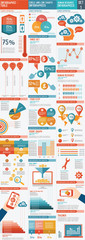 Big set of infographic vector illustration