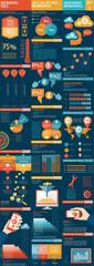 Big set of infographic vector illustration
