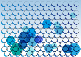 vector hexagons background