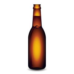 Illustration of Glass Beer Bottle On White Background