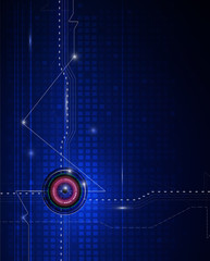 Blue abstract technology circuit background.