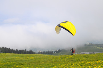 Paragliding in Semnoz, Savoy, France
