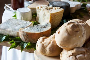 Italian cheese and bread