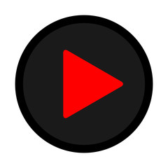 red black play icon vector