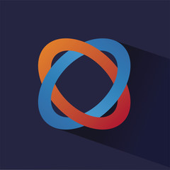 Abstract colored vector symbol