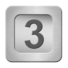 button with number 0 isolated on white background