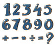 Zdjęcia na płótnie, fototapety, obrazy : Numeric figures and mathematical operations