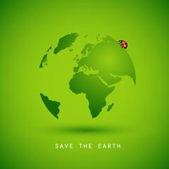 save the earth grün