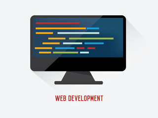 Web development concept on white background