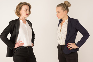 two business women swear
