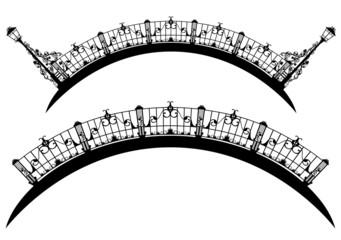 elegant bridge black and white design