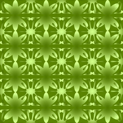 Shiny floral pattern seamless background green