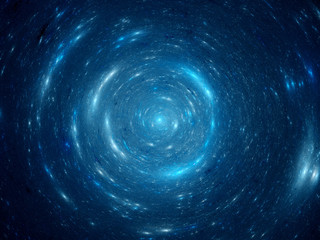 Center of blue spiral galaxy