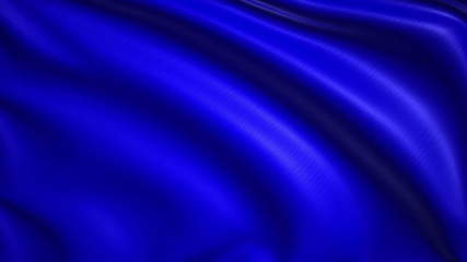 blank blue flag with fabric structure; looping