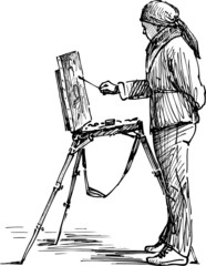 artist on the plein air