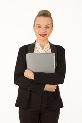 business  woman giving a folder