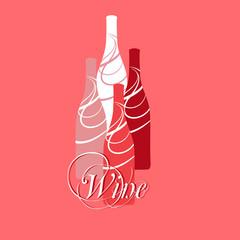 vector wine or vinegar bottles