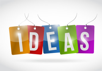 ideas color tags illustration design