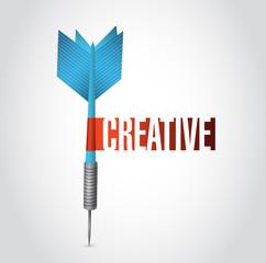 creative sign dart sign illustration design