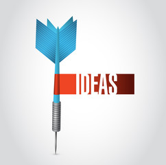 ideas sign dart sign illustration design