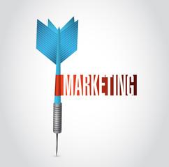 marketing dart sign illustration design